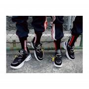 Zapatilla Clunky Elevada De Fondo Grueso-fashion-cool-Hombre-negro
