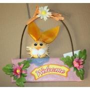 Húsvéti ajtódísz boltíves