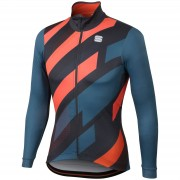 Sportful Volt Thermal Jersey - XS - Blue/Anthracite/Red Fluo