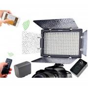 Lampara Yongnuo 300 LED Ver. 3 Blouetooth + Bateria + cargador una temperatura