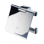 JOOP! FIXED ACCESSORIES Toilettenpapierhalter mit Deckel - silber - 123x120x38 mm