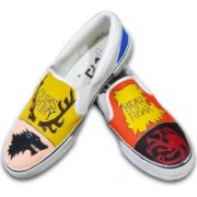 F-Gali The Game of Thrones Slip-on Shoes Canvas Shoes For Men(Multicolor)