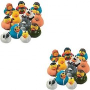 Two Dozen (24) Rubber Duckie Ducky Duck Christmas Nativity Scene