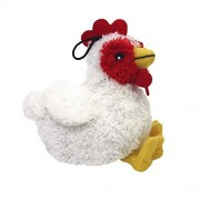 MULTIPET Look Who's Talking Plush Chicken 5.5-Inch Dog Toy
