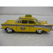 Kinsmart 1957 Chevy Bel Air Taxi Cab, Yellow - 5360D 1/40 scale Diecast Model Toy Car