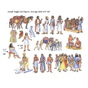 The Story of Joseph in Egypt Toggle Size Felt Figures for Flannel Board Bible Stories-precut