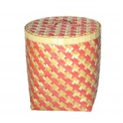 Dekoria Kosz z pokrywą Stripes 45x47cm -50%, 45 × 45 × 47 cm