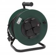 Tambur prelungitor cu distribuitor 4 prize, cu protecţie termică - 40 m