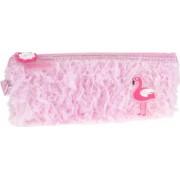Penar Borseta DACO Model Flamingo 22x8.5x3.5 cm Poliester Culoare Roz Borseta pentru Scoala Penare Tip Borseta Penar pentru Fete