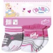 Set 2 perechi de sosete pentru papusile bebelus BABY BORN Multicolor