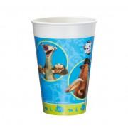 Pahare plastic 200 ml set 10 bucati Ice Age, Herlitz