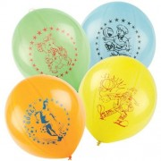 Large Balloons - 50 large novelty balloons. In assorted colours and designs they inflate to 35cm and have a strong elastic attachment.