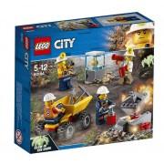 Set de constructie LEGO City Echipa de minerit