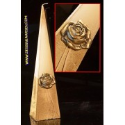 kaarsen: Gouden Roos, Piramide kaars, 33 cm