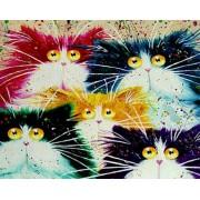 Gaira Malování podle čísel Kočičky M1139