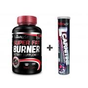 BioTech USA Akciový balíček Super Fat Burner 120 tbl + L-Carnitine šumivý 20 tbl