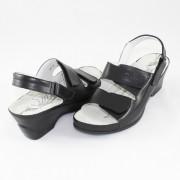 Sandale medicinale Dr. Batz - Black, din piele naturală