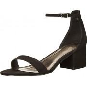Madden Girl Women's Lillian Dress Sandal, Black Fabric, 8 M US
