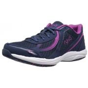 RYKA Dash 3 Zapatillas de Senderismo para Mujer, Azul Marino/Rosa, 7.5W US