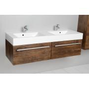Antado Spektra szafka z umywalką, wisząca 140 stare drewno 675421/636811