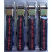 Spanifer, gurtni, racsni, rögzítő heveder 4db-os szett 25mm 4m - fekete