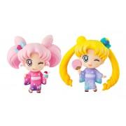 Megahouse Sailor Moon Petit Chara Mini Figure 2-Pack Sailor Moon & Chibiusa Kyotobeni Ver. 5 cm