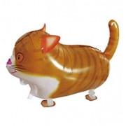 TOOGOO(R) 60*36Cm, Light Orange Cat ToogooR Cute Walking Pet Balloon Animal Air Walke