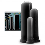 PACK DE 3 DILDOS ANALES WILDFIRE ASS ROD ANAL TRAINER KIT NEGROS