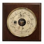 Dřevěný hranatý barometr JVD BA14/ORB s předpovědí počasí