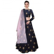 New Designer Nevy Blue Colour Benglori silk material wedding party and function Wear lehengha Coli For Women And Girls