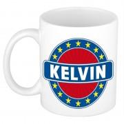 Shoppartners Voornaam Kelvin koffie/thee mok of beker