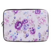 Universele paarse bloemen design sleeve 15 inch