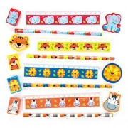 Baker Ross Jungle Chums 4-Piece Stationery Sets (Pack of 6 sets)