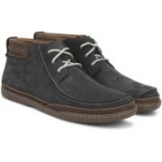Clarks TRAPELL TOP NAVY NUBUCK Boots For Men(Navy)