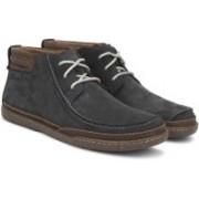 Clarks Trapell Top Navy Nubuck Boots For Men(Navy)