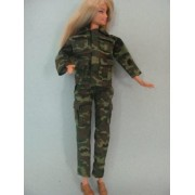 Barbie Doll Clothes: 2 Pc Camouflage Lady Outfit Fit 11.5 Inch Barbie Dolls