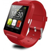 Bluetooth Smartwatch U8 Red With Apps Compatible with Micromax Canvas Blaze HD EG116