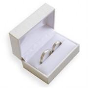 Koženková dárková krabička na snubní prsteny DH-7/A1