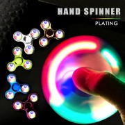LED Fidget Spinner Hand Glow Flash Lights Finger Spinners Toys For ADHD Relief Stress Focus Gift Figet Spiners with Retail Box