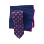 Ted Baker London Silk Circle Medallion Tie Pocket Square Set PINK
