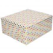 Shoppartners Cadeaupapier metallic gekleurde sterretjes print 150 cm