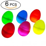 6 Pieces Colorful Glow in the Dark Easter Eggs Party Supplies Glow Toys for Childern Give Your Kids an Amazing Egg Hunt Game