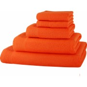 Set baie 5 prosoape Classic Collection Orange 100 bumbac Terry Selection