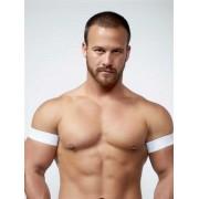 Mister B Urban Club Biceps Bands White 820503