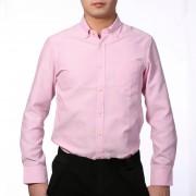 Talla Extra Formal Camisa De Oxford Hombres Negocio Manga Larga Shirts