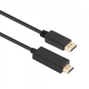 Cabo Displayport (Macho) x HDMI (Macho) com 1,80 Metros