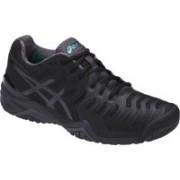 Asics GEL - RESOLUTION 7 - BLACK/DARK GREY/LAPIS Tennis Shoes For Men(Black)