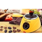 Electric chocolate Melting Pot Electric Chocolate Maker Melting Pot Chocolate Fountain Fondue Melt Pot, Household Diy Dessert Machine ,Electric 220V 25W ,Oven Melting Pot 0.25 L Electric Chocolate Melting Pot with molds and accessories By Flintstop