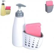 Dozator sapun sau detergent cu spatiu de stocare burete
