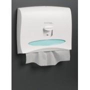 Dispensador cubreasientos de color blanco Kimberly